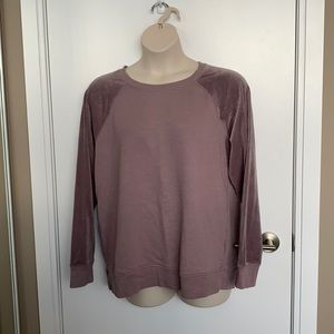 MAURICES   XXL   Lilac Velour-Feel-Sleeve Sweater